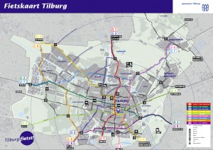 Fietskaart Tilburg